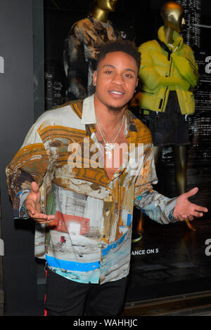 NEW YORK, NY - AUGUST 19: Actor Rotimi Akinosho attends as Saks Fifth Avenue and Starz celebrate the final season of 'Power' on August 19, 2019 in New - Stock Photo