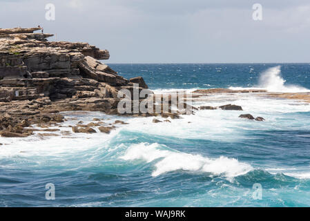 Australia, New South Wales, Sydney. Eastern Beaches. Bondi to Coogee Coastal Walk Clovelly Bay - Stock Photo