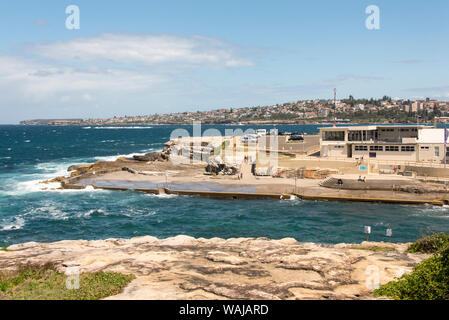Australia, New South Wales, Sydney. Eastern Beaches, Bondi to Coogee coastal walk. Clovelly Surf Life Saving Club founded 1906 one of oldest in world - Stock Photo