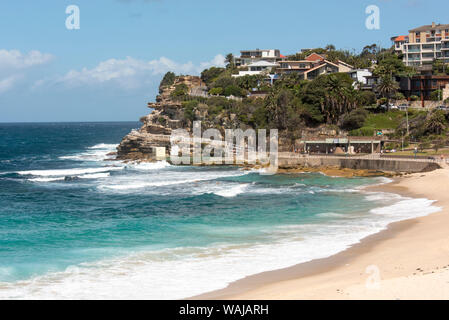 Australia, New South Wales, Sydney. Eastern Beaches, Bondi to Coogee coastal walk. Bronte Beach - Stock Photo