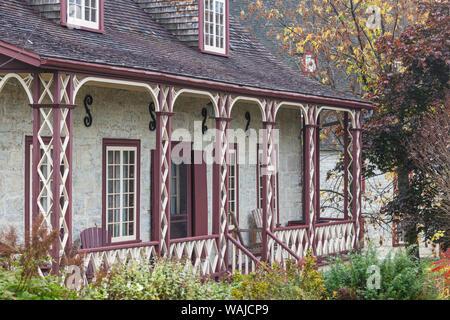 Canada, Quebec, Deschambault. Village house