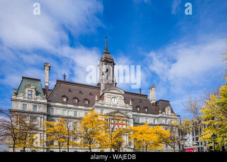 Canada, Quebec, Montreal. The Old Port, Hotel de Ville, town hall exterior