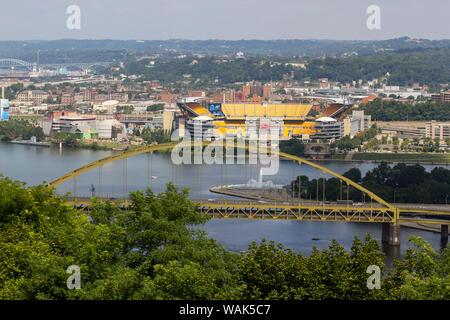 Fort Pitt Bridge, Pittsburgh, Pennsylvania, USA - Stock Photo