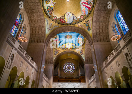 USA, Washington D.C. Basilica of the National Shrine of the Immaculate Conception interior - Stock Photo