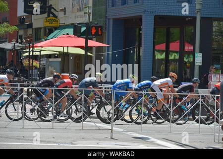 Twilight Criterium, Men's Race. Boise, Idaho, USA. (Editorial Use Only) - Stock Photo