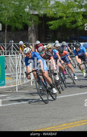 Twilight Criterium, Women's Race. Boise, Idaho, USA. (Editorial Use Only) - Stock Photo