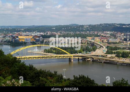 Fort Pitt Bridge, Pittsburgh, Pennsylvania, USA. - Stock Photo
