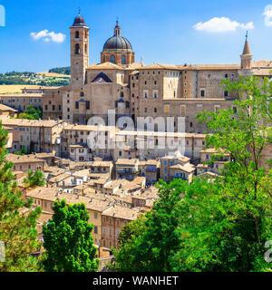 Beautiful Urbino old town,panoramic view,Marche,Italy. - Stock Photo