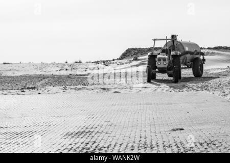 Tractor Port Wangerooge - Stock Photo