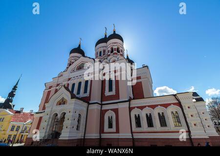 Alexander Nevsky Cathedral, Tallinn, Estonia - Stock Photo