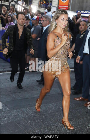 New York, NY, USA. 21st Aug, 2019. Lindsay Arnold, at Good Morning America promoting the new season of Dancing With The Stars on August 21, 2019 in New York City. Credit: Rw/Media Punch/Alamy Live News - Stock Photo