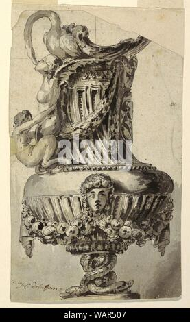 Drawing, Design for a Decorative Ewer, 1765 - Stock Photo