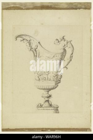 Drawing, Design for an Ewer, ca. 1710 - Stock Photo