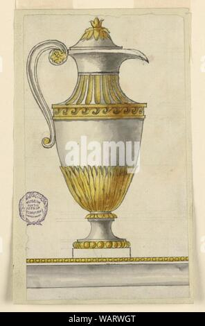 Drawing, Project for an Ewer and Basin, ca. 1800 - Stock Photo