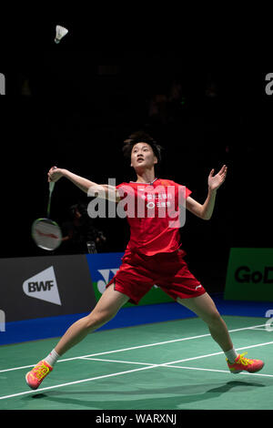 Basel, Switzerland. 21st Aug, 2019. Chen Yu Fei of China during the BWF World Badminton Championships 2019, Women's Singles Round at the St. Jakobshalle in Basel, Switzerland, on August 21, 2019. Credit: Enrico Calderoni/AFLO SPORT/Alamy Live News - Stock Photo