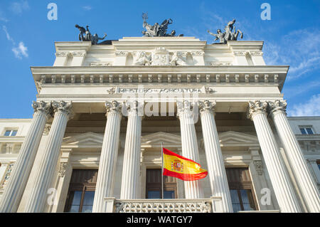 Ministry of Agriculture Building. Spanish Government Department. Madrid is the capital of Spain