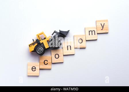 Automobile Industry crisis, economy down fall, economic depression - Stock Photo