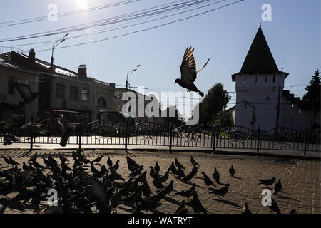 Yaroslavl, Russia. 20th Aug, 2019. YAROSLAVL, RUSSIA - AUGUST 20, 2019: A view of Bogoyavleniya Square [Epiphany Square]. Artyom Geodakyan/TASS Credit: ITAR-TASS News Agency/Alamy Live News - Stock Photo