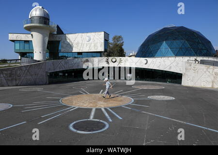 Yaroslavl, Russia. 20th Aug, 2019. YAROSLAVL, RUSSIA - AUGUST 20, 2019: A view of the planetarium at Valentina Tereshkova Cultural and Educational Centre. Artyom Geodakyan/TASS Credit: ITAR-TASS News Agency/Alamy Live News - Stock Photo