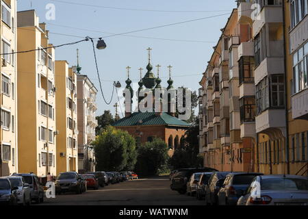 Yaroslavl, Russia. 20th Aug, 2019. YAROSLAVL, RUSSIA - AUGUST 20, 2019: A view of the late 17th-century Church of the Annunciation. Artyom Geodakyan/TASS Credit: ITAR-TASS News Agency/Alamy Live News - Stock Photo