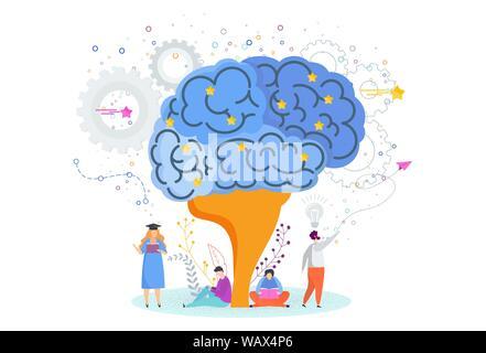 Smart brain. Tree of knowledge. Metaphor of study, education. - Stock Photo