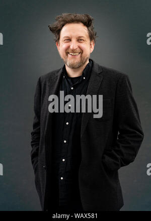 Edinburgh, Scotland, UK. 22 August 2019. Ewan Morrison at Edinburgh International Book Festival 2019. Scottish writer Ewan Morrison returns to novel-writing with Nina X a story of a girlsÕ imprisonment in a London flat by a monstrous leader. Iain Masterton/Alamy Live News. - Stock Photo