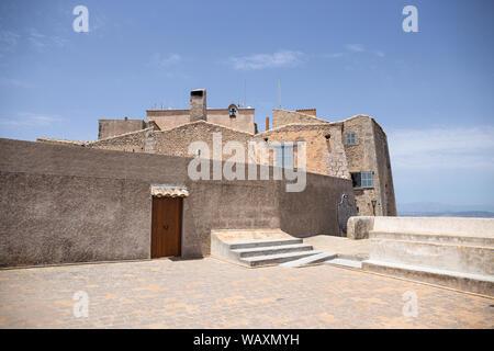 Santuari de Sant Salvador Monastery, Santuario de San Salvador, near Felanitx,  Mallorca, Balearic Islands, Spain. - Stock Photo