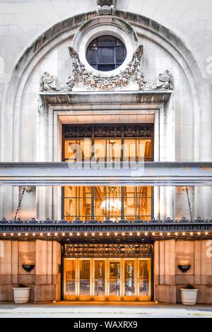 Classic Luxury Hotel Door. NYC, USA. - Stock Photo
