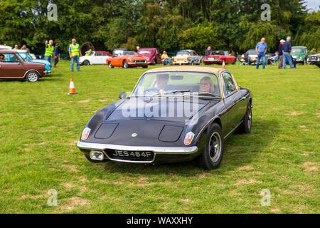 Lotus Elan, 1967, Reg No: JES 484F, at the Camerton Classic Car Show 11-08-2019 - Stock Photo
