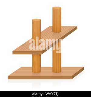 Impossible object. Two sticks pierce two planks, which are oriented differently in the perspective. Paradox, conflicting, incompatible, false . - Stock Photo