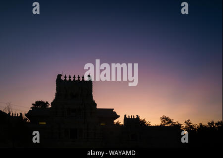 Malibu Hindu Templed photographed during sunset time in Calabas, CA - Stock Photo