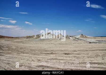 The valley with mud volcanoes, Azerbaijan - Stock Photo