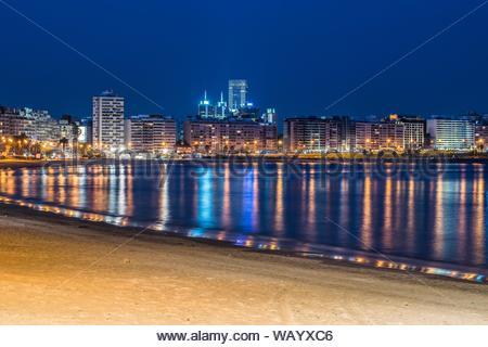 Pocitos beachfront - Montevideo - Uruguay. - Stock Photo