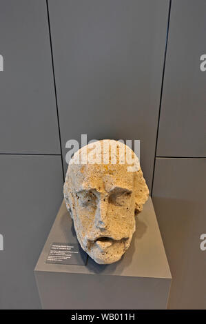 Copy of Homer's bust at the Troy Museum in Turkey - Stock Photo
