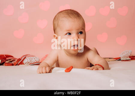 Having a child. Family. Child care. Childrens day. Small girl with cute face. parenting. Childhood and happiness. Portrait of happy little child - Stock Photo