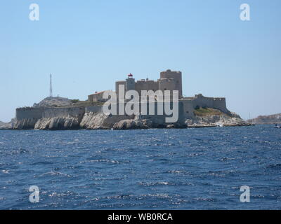 Castle of If , in If Island Frioul archipielago, Marseille France - Stock Photo