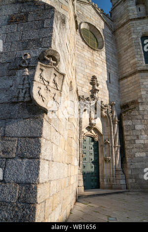 The  Cathedral of Guarda, Sé da Guarda,  built in the Gothic and Manueline styles, center of Guarda, Beira Interior Norte, Northern Portugal. - Stock Photo