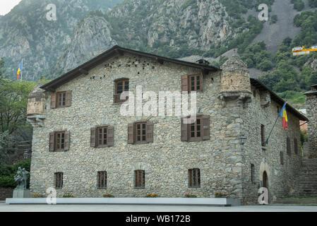 Andorra La Vella, capital, Casa de la Vall, seat of government, Andorra. - Stock Photo