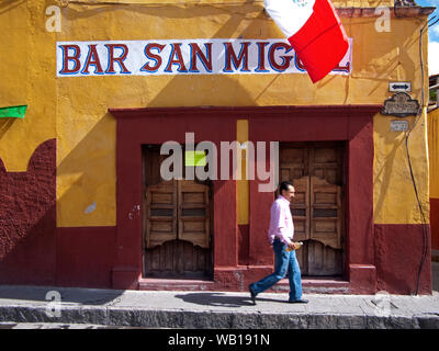 San Miguel De Allende, a city and municipality in the region of Guanajuato in central Mexico.  The historic town centre is a World Heritage Site. - Stock Photo