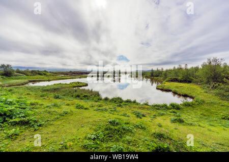 Iceland, landscape near Thingvellir - Stock Photo