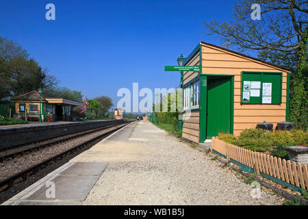 The station at Harman's Cross on the Swanage Railway, Dorset, England, running steam trains from Swanage to Corfe Castle. - Stock Photo
