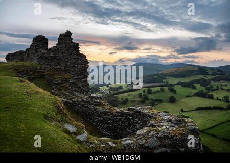 Castell Dinas Brân, Llangollen, Denbighshire, Wales - Stock Photo