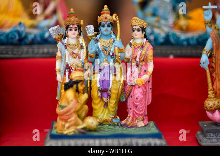 Watford, UK. 23 August 2019.  A statue of Lord Krishna for sale as thousands celebrate the birth of Lord Krishna at the Janmashtami festival at the Bhaktivedanta Manor Hare Krishna Temple in Watford, Hertfordshire.  The manor was donated to the Hare Krishna movement by ex Beatle George Harrison and annually hosts the biggest Janmashtami festival outside of India.  Credit: Stephen Chung / Alamy Live News