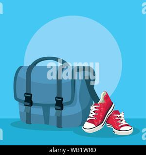 Travel and adventure in with backpack - Stock Photo