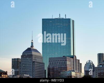 The Boston Back Bay Skyline - Stock Photo
