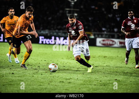 Tomas Rincon of Torino FC in action during the  UEFA Europa League playoff round football match between Torino FC and Wolverhampton Wanderers FC.Wolve - Stock Photo
