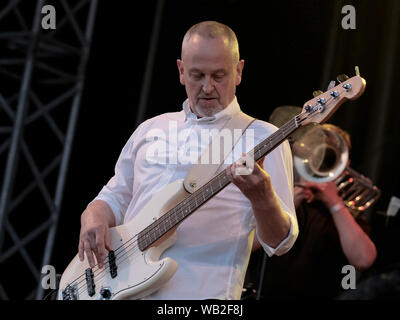 Portsmouth, Hampshire, UK. August 23rd 2019. Horice Panter guitarist with the Specials performing live on stage at Victorious Festival, Southsea, Portsmouth, Hampshire UK Credit: Dawn Fletcher-Park/Alamy Live News - Stock Photo