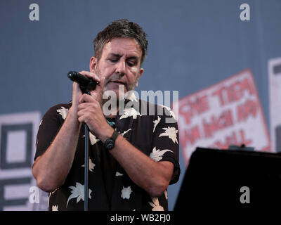 Portsmouth, Hampshire, UK. August 23rd 2019. Terry Hall vocalist with the Specials performing live on stage at Victorious Festival, Southsea, Portsmouth, Hampshire UK. Credit: Dawn Fletcher-Park/Alamy Live News - Stock Photo