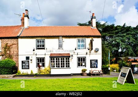 The Lord Collingwood pub, Upper Poppleton, North Yorkshire, England - Stock Photo