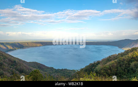 The protected area of the Apoyo lagoon located between Granada and Managua, Nicaragua, Central America. - Stock Photo